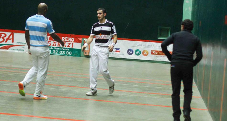 Mathieu Ospital et Waltary Agusti, joueurs de pelote basque à main nue