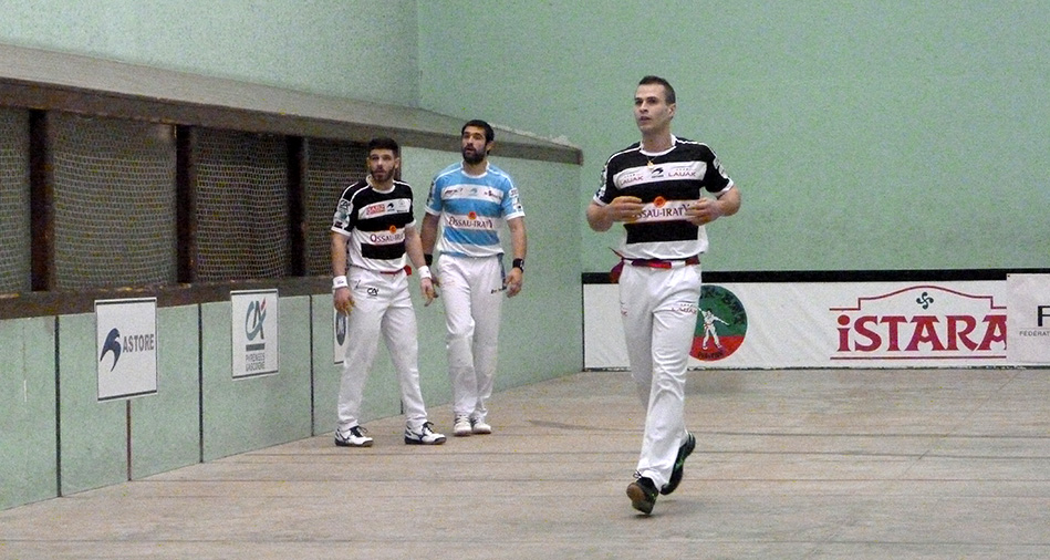 Larralde et Bilbao, joueurs de pelote basque