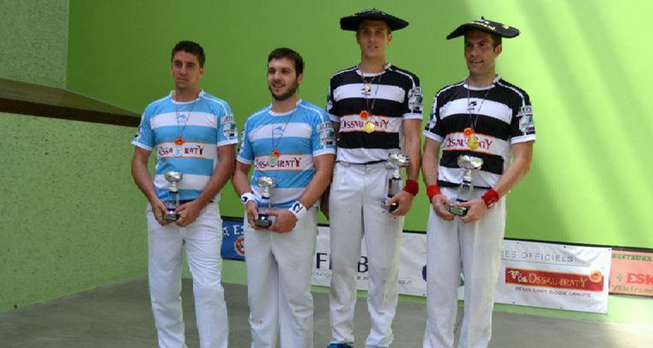 Inchauspé et Amulet champions de pelote basque par équipes groupe b