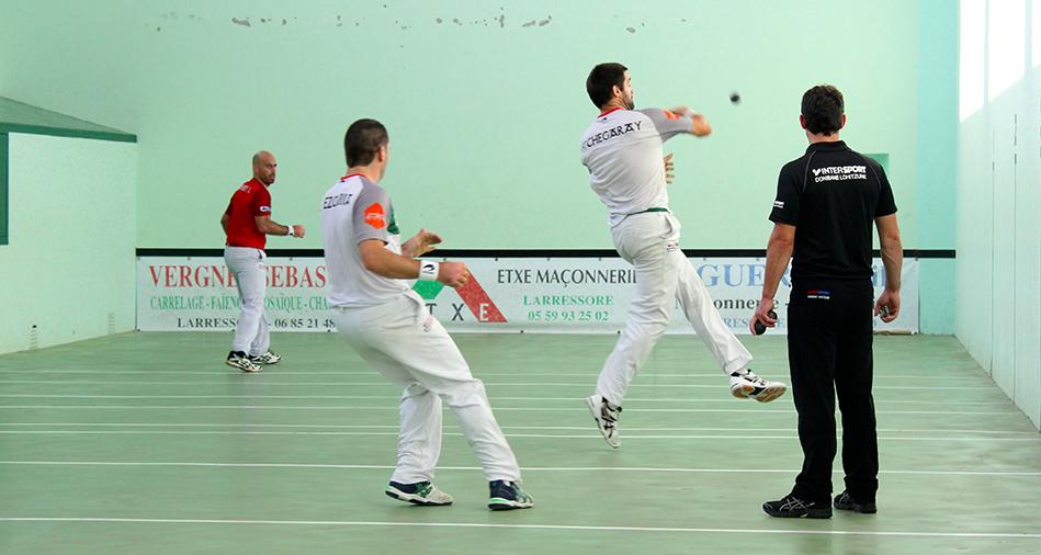 Etchegaray-De Ezcurra en finale contre Ospital-Palomes