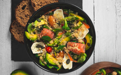 Salade composée qui fait le plein d'énergie