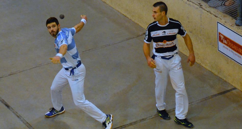 Peio Larralde et Bixintxo Bilbao, joueur de pelote basque à main nue