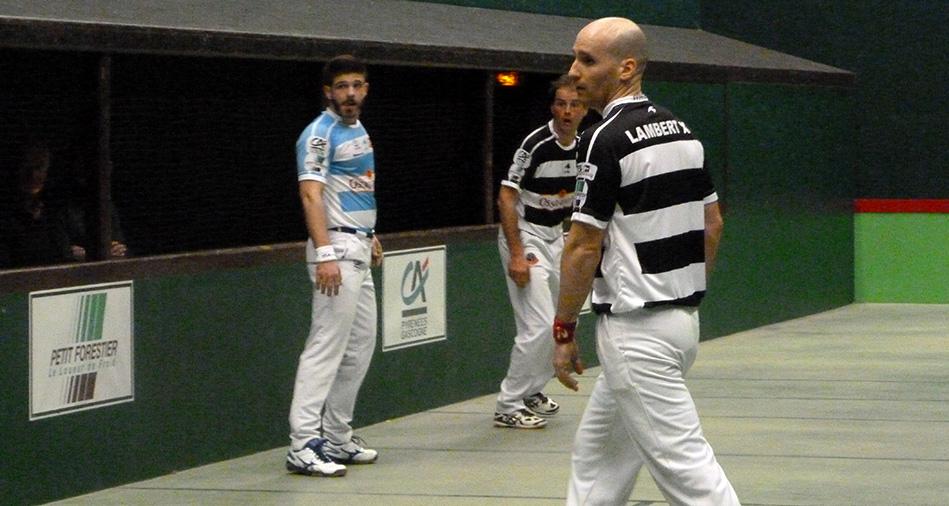 Philippe Bielle et Ximun Lambert, joueurs de pelote basque