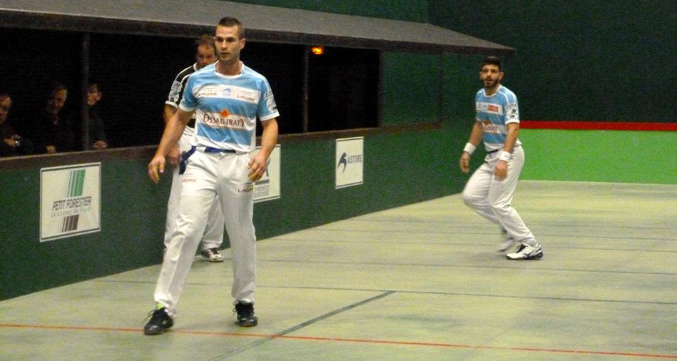 Bixintxo Bilbao et Peio Larralde, joueurs de pelote