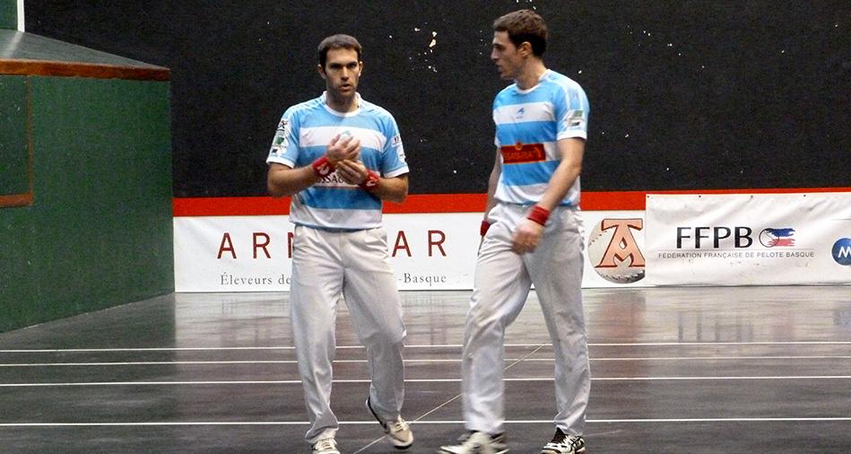 Inchauspé et Amulet joueurs de pelote basque
